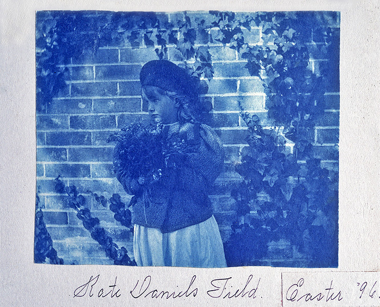 Kate Daniels Field, Easter 1896. Cyanotype