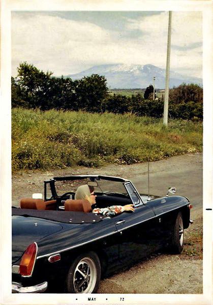 Black MGB, 1972. Dye Coupler Print Snapshot