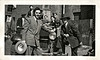 Well-dressed Young Men with Car, c. Early 1940s. Gelatin Silver Print Snapshot