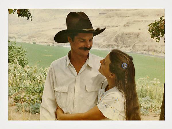 Young Ranching Couple, Lewiston, Idaho, 1985. Dye Coupler Print Snapshot