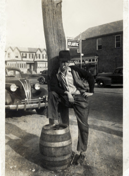 Young Man with an Attitude, c. 1940s. Gelatin Silver Print Snapshot