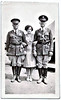Two Black Cavalry Officers Escorting Young Woman, c. 1920s. Gelatin Silver Print Snapshot