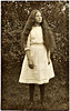 Young Woman with Very Long Hair, c. 1915. Real Photo Post Card