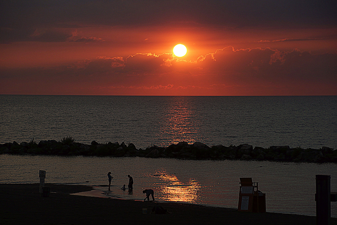 Sunset from Lakeview Park Lorain