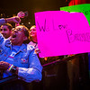"""Supporters cheer for Vermont senator Bernie Sanders as he speaks during a rally at the Verizon Theater on Thursday, April 20, 2017, in Grand Prairie, Texas. Sanders, the runner-up in the 2016 Democratic contest for president, appeared in North Texas as part of a national tour urging Democrats to """"Come Together and Fight Back"""" against the agenda of President Trump. (Smiley N. Pool/The Dallas Morning News)"""