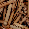 "07.20.09 =  On Sunday, my sister and I went to a large outdoor antique show that comes to the area once a month.  We always make a day of it and have a good time. I just loved this big bucket of clothespins.  These are the really good older kind. Not the flimsy wood kind they make in China these days, that break.  They just triggered memories as a kid, running and playing between the sheets hanging out on the line.  Ahhhh, there's nothing like sleeping on fresh sheets hung on a line.  Ahhhhh. <br /> <br /> ""Sometimes the questions are complicated and the answers are simple.""  Dr. Seuss"
