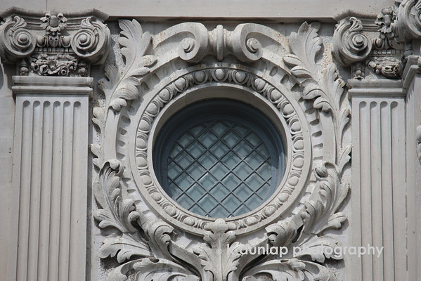 03.20.09 =  Just one of the detailed windows in the old courthouse in Evansville, Indiana
