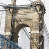 02.14.09 = This is an up close shot of the one of the towers from the Suspention Bridge in Cincinnati, Ohio.  I was actually on the Kentucky side for this shot.