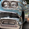 "08.09.09 = I had fun at this car show. All the old cars had so much style. It just seems we don't have a lot of cars these days with such style.  In 50 years will we be walking car shows looking at a 4-door green Camry?  In our quest to make cars more fuel effecient, more affordable and more areodynamic, it seems we lost our sense of style. <br /> <br /> ""In order to be irreplaceable one must always be different.""  Coco Chanel<br /> <br /> 1959 Oldsmobile Eighty Eight<br /> <br /> Correction:  1958 Oldsmobile Eighty Eight.  Thanks Matt!  Studio721"
