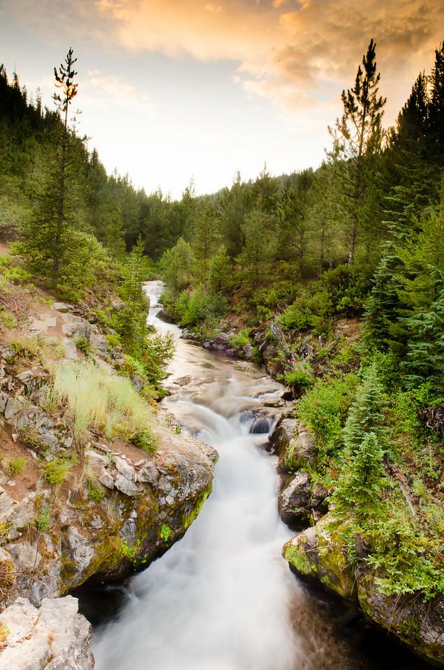 Upstream from Tumalo Falls