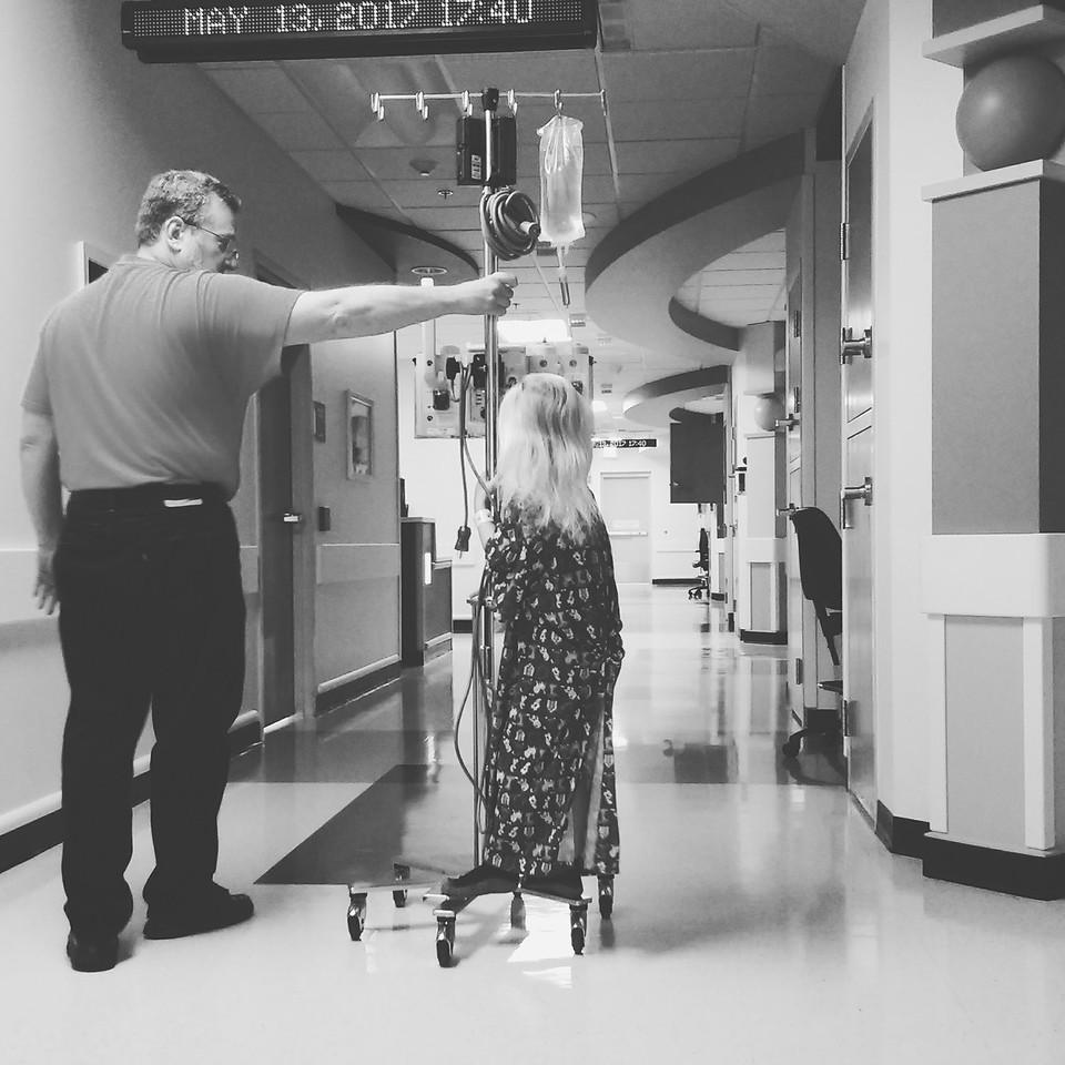 05.13.2017 Gpa Curt taking a ride down the hospital hall