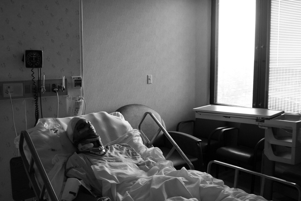 David Resting Black and White