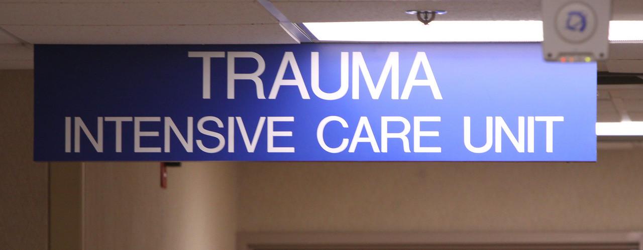 Trauma Unit Sign