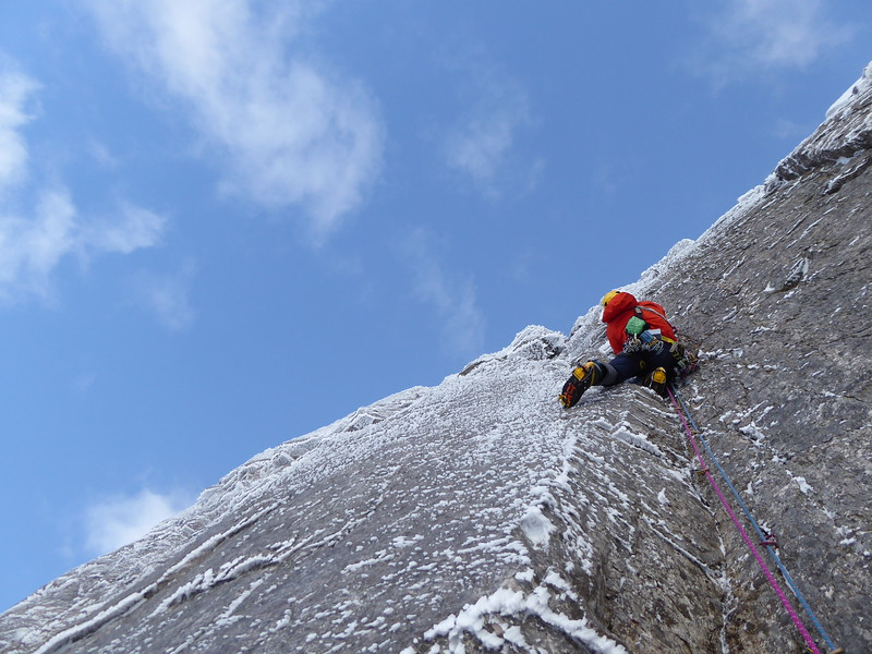 Slightly higher on pitch 2 and slightly more pumped. Photo Murdo Jamieson