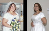 BEFORE:  Hilliary had fought to get down to the 250's for our wedding in 2001.  Even here, she wasn't happy with how she looked.  She got up to 315 by 2004.<br /> <br /> AFTER:  Now approaching 200 pounds, the wedding dress is so loose that she can practically take it off over her head while wearing it!!!