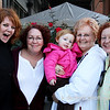 "11.22.10 = Generations<br /> <br /> Well look who I got to spend a few hours with on Saturday!  Yes, that's our very own famous Smugger Carole Murray, along with her mother, sister, daughter-in-law and the infamous, Maeve!  I lucked out with the benefit of geography on my side.  Cincinnati just so happens to be half way between Carole and her mother and so it made for a convenient family weekend.  I love family get-together's and seeing all the generations together and with Thanksgiving this week, I'm sure many of you too, will be with family and friends.  It's a time to create new memories, and of course, never let the old one's die.  And even though it's been a tough year for many of us, we all something to be thankful for; each other.  <br /> <br /> ""Other things may change us, but we start and end with family.""  Anthony Brandt"