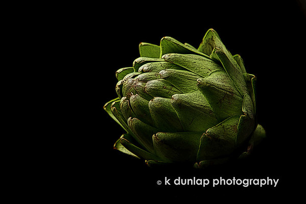 "01.26.10 = The artichoke<br /> <br /> What a strange little vegetable with all its multiple layer folding into each other.  But very interesting to photograph.  <br /> Busy, busy, busy. Another very busy week for me.  I hope to get back to posting daily here in the next week or two. <br /> Have a great day everyone! <br /> <br /> ""The artichoke; the vegetable with a heart."""