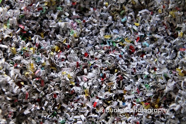 "09.16.10 = Shredded<br /> <br /> This was a project long overdue; shredding old statements and checks and things.  What a arduous task.  I brought stacks of files and rolled my shredder into the living room and sat on the floor while watching TV and just went to town, shredding!  I have to say, it felt really good to take a stack of old bank statements and put them through the shredder.  There were several times that I had to stop, because the poor baby overheated and couldn't keep up with my fury of shredding!  Bank statements, cancelled check, water and electric bill statements, (don't ask me why I had them back to 2003) old receipts from things I don't even have anymore.  As much as I had procrastinated doing it, it turned out to be very therapeutic.  Now it's time to go through old clothes and shoes and purge, purge, purge!<br /> <br /> ""Life is a lot like the monkey bars; you have to let go at some point to move forward."""