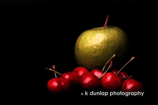 "01.04.10 = Still life.  <br /> Well, it's Monday and my life will be anything but still today!  After a long and peaceful vacation it's time to hit the pavement again.  <br /> I didn't get out yesterday and face the cold so I have resolved to photographing fruit.  I had fun playing with this photo in PS.  I added a watercolor filter and played around with brush strokes. I may have to go and do some more tweaking on this one and lighten it up.  Your thoughts?  It reminded me of an oil painting still life.  <br /> Have a great day an week everyone! <br /> <br /> ""Life must be interrupted as it is lived.""  Unknown"