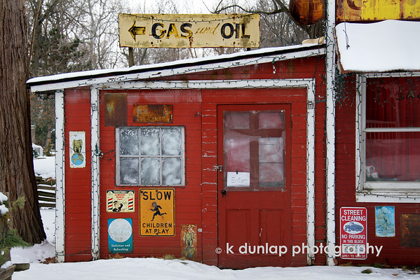 "02.17.11 = Great old places<br /> <br /> I love old places like this.  They really make you curious of what and who is inside.  When I was a kid and we went down to my Grandma's and Grandpa's house in Kansas, there were places like this scattered around town.   My Grandfather would take us for rides in the big old brown Ford and we would stop at all these different places on various errands.  Really, I don't think he had any real business there except to show-off his granddaughters.  And it seemed that all the men working in these places had great nick names like, Bobcat Willy and Tater and they all wore overalls.  When we got back home my Grandmother would ask us if we had fun and where we went.  She would then get angry at my Grandfather saying something like, ""What were you thinking taking these little girls to that filthy old place?"" We would then proceed to defend my Grandfather, so he would take us out again.  My Grandmother would then begin the gossip and tell you the life history of everyone we met.  I can see and hear her now.  Great memories. Great old places. <br /> <br /> ""Memory is a way of holding onto the things you love, the things you are, the things you never want to lose.""  Unknown"