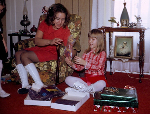 "12.23.11 = Flashback Friday – Groovy 1972<br /> <br /> Too funny!  Don't you just love our groovy boots? Hey, let me tell you, we were ""It"" with those boots.  They were the hottest thing and everyone wanted a pair.  Such high fashion for a Christmas in Kansas. Can you dig it?<br /> <br /> ""A girl should be two things; classy and fabulous.""  Coco Chanel"