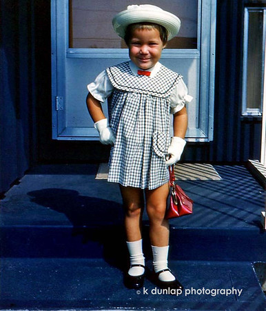 "07.18.11 = Flashback Friday (on Monday) 1965 or 66'ish   <br /> <br /> Confidence & Attitude  <br /> I LOVE this photo of my sister Kim.  The hand on the hip, the smirk on her face, it's 100% Kim; Kim then and Kim now. <br /> <br /> ""Always act like you're wearing an invisible crown."" Unknown"