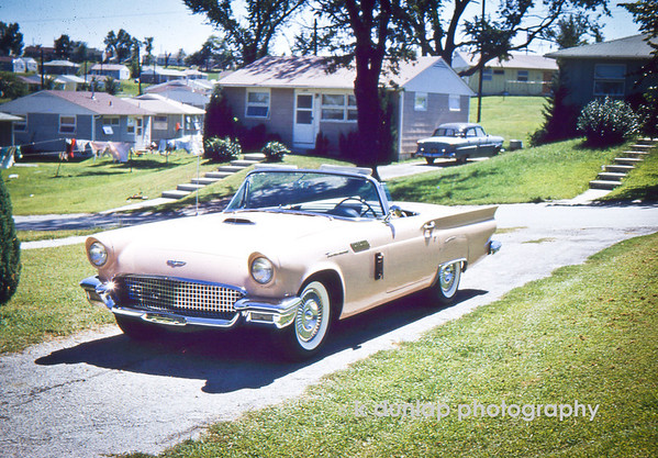 "01.06.12 = Flashback Friday – And Baby makes 3!<br /> <br /> Through the years I have often heard my mother and father talk about their first car; a pink Ford Thunderbird.  They speak so fondly about it; you would think it was a beloved family member that passed away.  And I guess in a way, it was.  A young, newly married couple, riding around in the hottest thing on four wheels, I can only imagine.  But, baby makes 3 and in a hot little two-seater convertible, the numbers add up to 1 too many.  So the little pink Thunderbird made way for a more ""practical"" Ford sedan and so the story goes. I guess if we are looking to blame someone, we could blame my sister for being born but then there wouldn't of been baby 2, 3 or 4, so that serves no purpose.  Oh well, not to worry, they have their 196? Mustang convertible now to tool around in, a very nice consolation prize.  <br /> <br /> ""A team will always appreciate a great individual if he's willing to sacrifice for the group.""  Kareem Abdul-Jabbar"