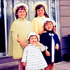 "04.06.12 = Flashback Friday – Easter 1968<br /> <br /> Having been raised Catholic, we went to church every Sunday as a family, but Easter Sunday; Easter Sunday was very special.  Every year we had something new to wear; a dress, hat, coat or shoes and sometimes, it was head-to-toe new.  I remember the years that my mother made me a dress.  For weeks, I would get to try it on and she would pin and tailor it to fit perfectly. The anticipation and excitement of seeing it finished was that of like Christmas.   I believe all the dresses and coats in this photo were handmade by either my mother or grandmother.  The night before Easter we would get our outfits together; Dress, hose, shoes, coat & hat, all hanging ready to go.  We each had our own Easter basket that we set outside along with carrots and lettuce for the Easter Bunny.  I'll never forget the one year we went to open the back door to get our Easter baskets and there was a real live bunny sitting out there.  There was a flurry to kitchen to get more carrots for him.  Our Easter baskets were always amazing with a big chocolate bunny in the middle and various candy and little toys surrounding.  How special we all felt heading off to church to celebrate Easter. <br /> <br /> ""Easter is the demonstration of God that life is essentially spiritual and timeless.""  Charles M. Crowe"