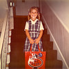 "08.24.12 = Flashback Friday – First Day of School<br /> <br /> With school starting back this week and seeing all the kids waiting at their bus stops on my drive into work, I couldn't help remember those first days of school.  How everything was so new.  A new book bag and a new lunch box.  The smell of new crayons and glue.  We always got a new pair of shoes and for weeks before school, we would put them on and wear them around in our room.  Okay, maybe not everyone did that, but I've had a love of shoes since I was 3.  Anyway, don't you remember walking into your new classroom and everything looked and smelled so perfect?  Where were you going to sit and who would you be sitting by?  A good friend or a new friend? Remember those little milk cartons and the paper straws?  Recess and games like hop-scotch, four-square and dodge ball.  Wow, it's been a long time since I thought about that.  <br /> <br /> ""As long as there is testing in school, there will be prayer in school."" k dunlap"