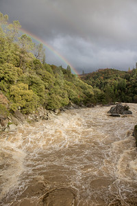 Rainbow, looking down stream, taken with the Canon M. Not bad for a camera the size of a pack of camels.