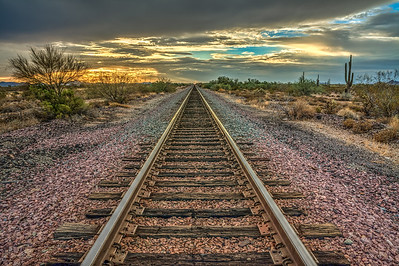 Old Western Railroad Track