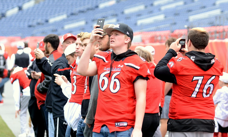 Loveland's football team took plenty of pictures and video while touring Broncos Stadium at Mile High on Tuesday. The Indians took part in the 4A/5A championship press conference. They'll face Skyline in the 4A title game on Saturday at 11 a.m.