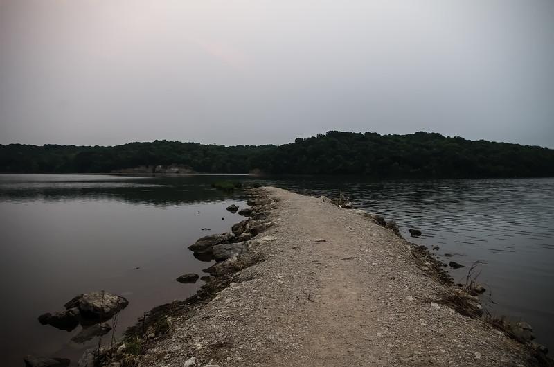 Lake Jacomo, Blue Springs, Missouri. Added photo effect.
