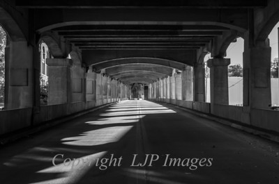 Underneath the 12th Street Bridge in Kansas City.
