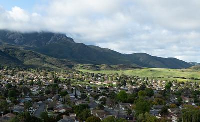 Potrero Valley and Boney Mountain from the Potrero Ridge Trail, March 2020.