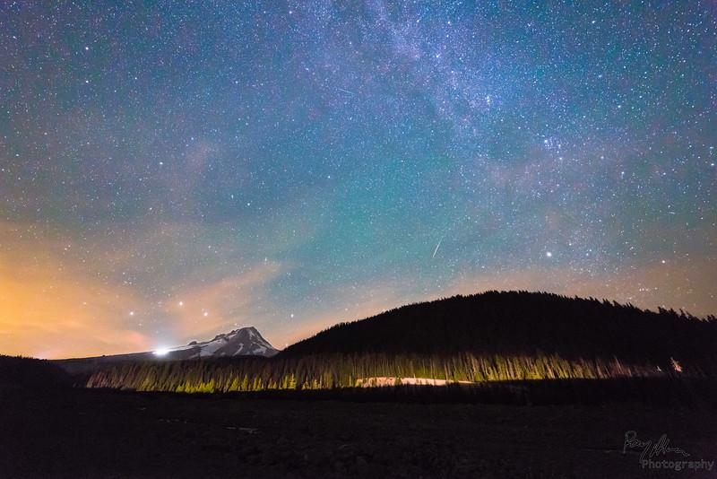 Perseids Meteor Shower & Mt. Hood