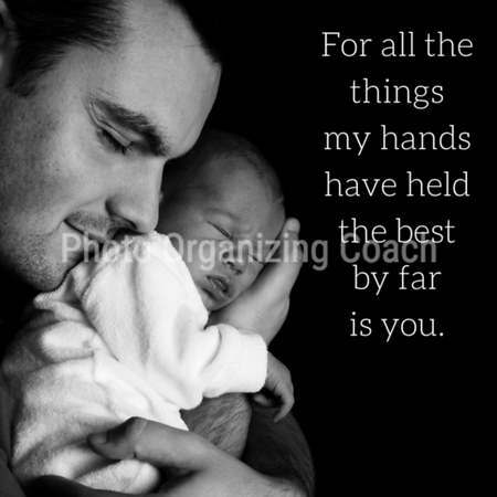 Father holding newborn Social Graphic Square