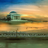 Jefferson Memorial in the fall.