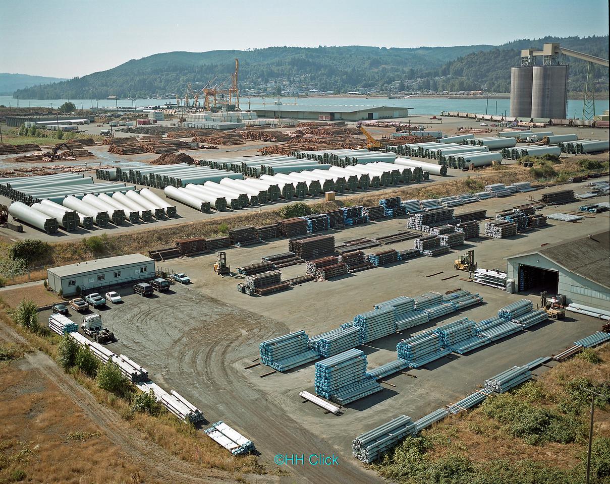 Port of Longview, cargo staging area