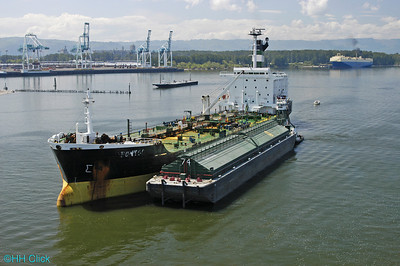 International Raw Materials, aerials, transfer from ship to barge