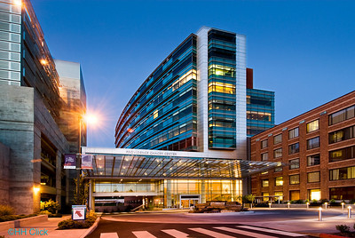 Providence Cancer Center at twilight