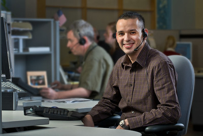 Customer service representatives at PacifiCorp call center