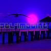 Fishing by Moonlight off Waimea Pier