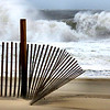 Waves building in advance of Superstorm Sandy at Ocean City, Maryland.