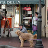 Dog parking in front of Chick & Ruth's Delly an Annapolis, Maryland, landmark eatery.