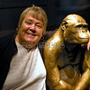 Kathy Monkeying Around at the Smithsonian Museum