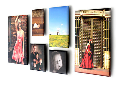 Float Wraps  A Float Wrap is a new, unique option to display images. Float Wraps are similar to Gallery Wraps or Standout mounted prints in that they add dimension by extending out from the wall.   Float wraps are unique in that they appear to be floating on the wall with the main focus on the image! Create a modern display with a Float Wrap wall collage that is ready to hang once removed from the box!