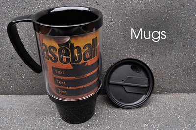 One of our most popular Sport & Event products! These 16-ounce Thermal Mugs can be completely customized with one image and up to three lines of text.