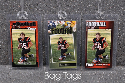 Gym bags are easily identified when equipped with a custom Bag Tag.  Each tag is laminated and comes with a plastic cord for attachment.