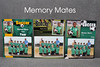Memory Mates make it easy to reminisce about season's past. Each features an individual shot of the athlete, along with a group photo of the team. Choose from a variety of sports templates, and customize with three lines of text
